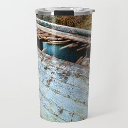 Old Boat in the field Travel Mug