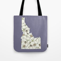 Idaho in Flowers Tote Bag