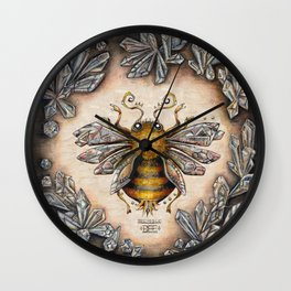 Crystal bumblebee Wall Clock