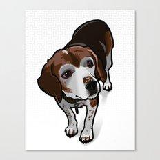 Clancy (white) Canvas Print