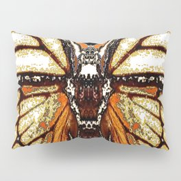 RIBBED WHITE BROWN & BLACK BUTTERFLY WING VEINS Pillow Sham