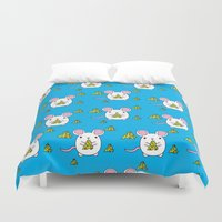 cheese Duvet Covers featuring Love Cheese by LeaLea Rose