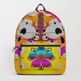 Fantasy flower in tones Backpack