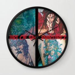 Art of Sam Martinez Banner 1 Wall Clock