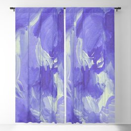 Violet Abstract Blackout Curtain