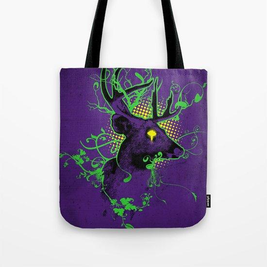 Trippy Ghost Deer Tote Bag