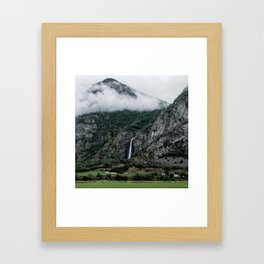 Waterfalls And Mist Framed Art Print
