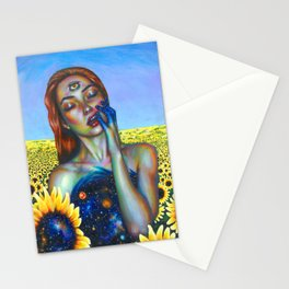 Outer and inner suns Stationery Cards