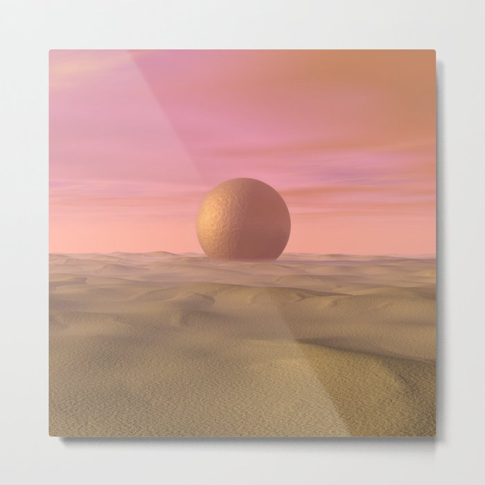 Desert Dream of Geometric Proportions Metal Print