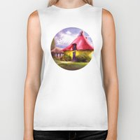 once upon a  time Biker Tanks featuring Once upon a time by INA FineArt