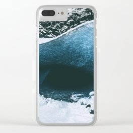 Ice Cave Clear iPhone Case