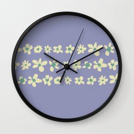 Daisy Chain in Dusty Violet Wall Clock