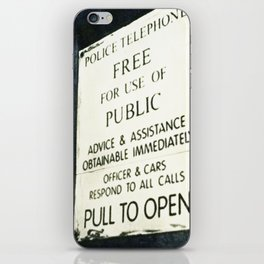 Doctor Who: PULL TO OPEN! iPhone Skin