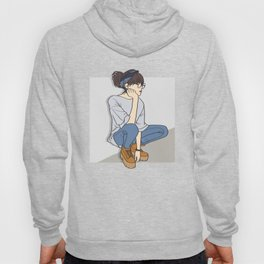 Tomboy OOTD Outfit of the Day Art Hoody