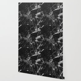 Black and Gray Marble Pattern Wallpaper