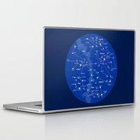 superheroes Laptop & iPad Skins featuring Superheroes Constellations by tuditees