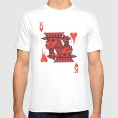 LOVE IS AN OPEN WOUND White MEDIUM Mens Fitted Tee