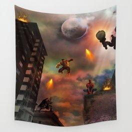 Super Hero Showdown Wall Tapestry