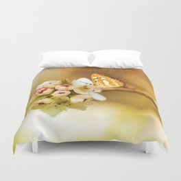 Blooms and Butterflies Duvet Cover