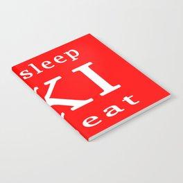 eat sleep ski repeat Notebook