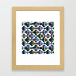 Retro Box Star Pattern Small Framed Art Print