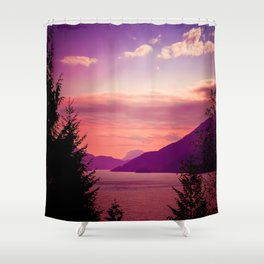 Sunset Sea to Sky Shower Curtain