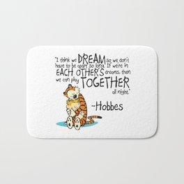 Calvin and Hobbes Dreams Bath Mat