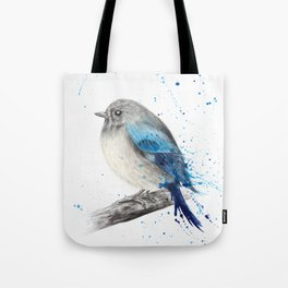 Round and Happy Bird Tote Bag