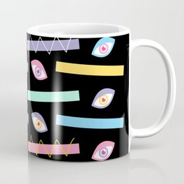 Black Teichopsia Eyes Coffee Mug