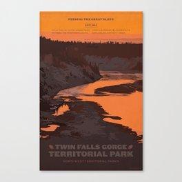 Twin Falls Gorge Territorial Park Canvas Print