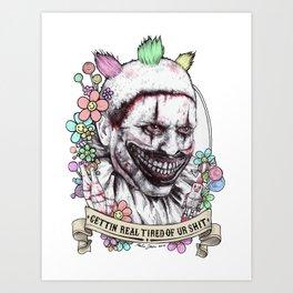 xoxo Twisty (color) Art Print