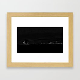 Horizon in Thin Lines Framed Art Print