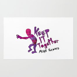 Keep It Together (Zombie Motivational)(white back) Rug