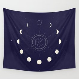 Moon Phases Wall Tapestry