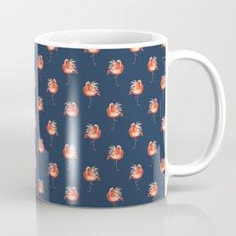 Feathery Friend Pattern - Ultramarine Coffee Mug