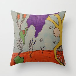 Tim and Missis Tree Throw Pillow