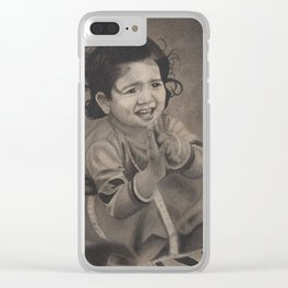 Next Door Baby Girl Playing with Mud Clear iPhone Case