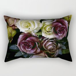 Roses Dark Moody Old Masters Rectangular Pillow