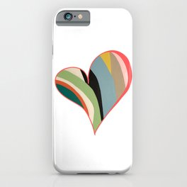 Big Hearted, Big Love, Colorful Heart Painting by Christie Olstad iPhone Case