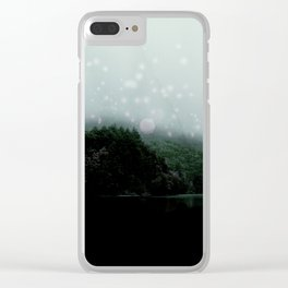 Luster Lake -Grey Clear iPhone Case