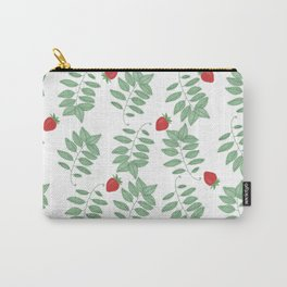 Basil and Strawberry Carry-All Pouch