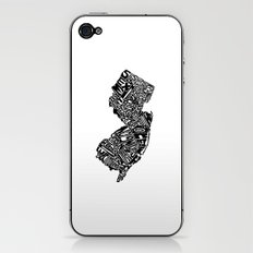 Typographic New Jersey iPhone & iPod Skin