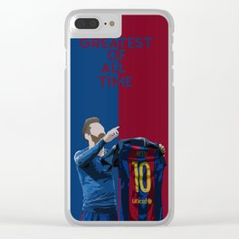 Leo Messi- Greatest of all time Clear iPhone Case