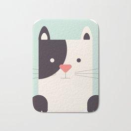 Cartoon Abstract Cat Bath Mat