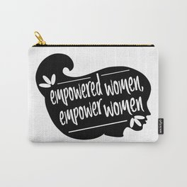 emPowered Women - Silhouette BW Carry-All Pouch