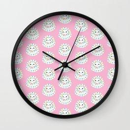 White Confetti Cake Wall Clock