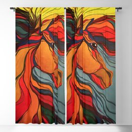 Wild Horse Breaking Free Southwestern Style Blackout Curtain