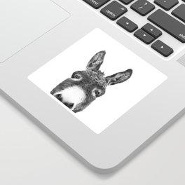 Hey Donkey BW Sticker
