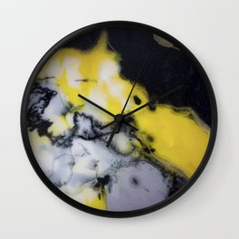 Bright yellow Wall Clock