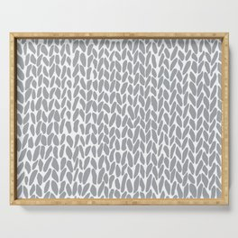 Hand Knit Zoom Grey Serving Tray